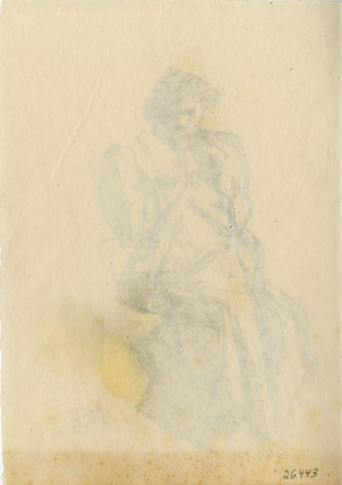 UMBERTO BOCCIONI [imputee] - Ispezione - Original charcoal drawing - Image 2 of 3