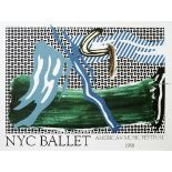 ROY LICHTENSTEIN - NYC Ballet - American Music Festival - Color offset lithograph