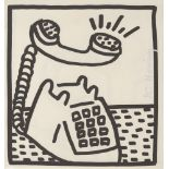 KEITH HARING - Ringing Telephone - Lithograph