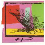 ANDY WARHOL - Komodo Dragon (Monitor Lizard) - Color offset lithograph