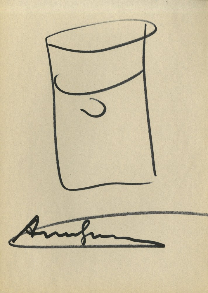 ANDY WARHOL - Campbell's Soup Can #1 - Marker drawing on paper