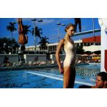 HELMUT NEWTON - University of Miami, Fashion, New York Times Magazine - Original vintage color ph...