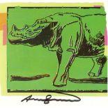 ANDY WARHOL - Sumatran Rhinoceros - Color offset lithograph