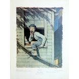 NORMAN ROCKWELL - Tom Sawyer: He Meow'd… - Original color collotype