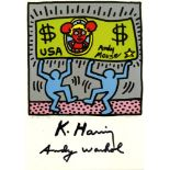 ANDY WARHOL & KEITH HARING - Andy Mouse II, Homage to Warhol - Color offset lithograph