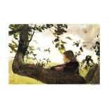 ANDREW WYETH - Helga in Orchard - Color offset lithograph