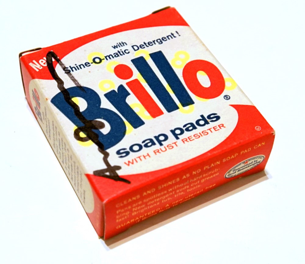 ANDY WARHOL - Brillo Box #1 - Color inks on stiff paperboard