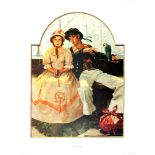 NORMAN ROCKWELL - The Voyager - Original color collotype