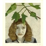 LUCIAN FREUD - Girl with Leaves - Color offset lithograph