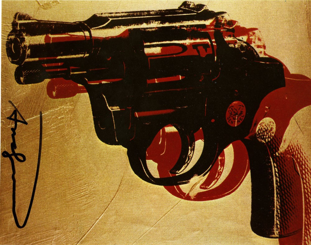 ANDY WARHOL - Guns #08 - Color offset lithograph