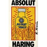 KEITH HARING - Absolut Haring - Color offset lithograph
