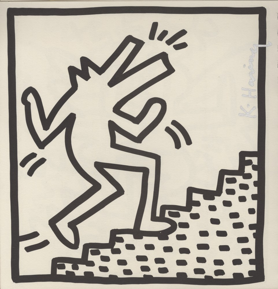 KEITH HARING - Barking Dog on Stairs - Lithograph