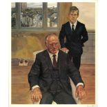 LUCIAN FREUD - Two Irishmen in W11 - Color offset lithograph