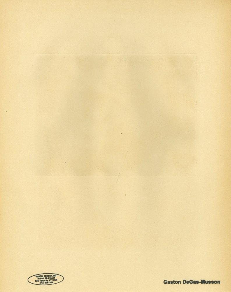 EDGAR DEGAS - Fete de la patronne - Original duogravure, after the monotype - Image 2 of 2