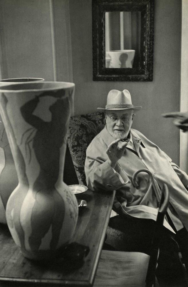 HENRI CARTIER-BRESSON - Henri Matisse, Saint-Jean-Cap-Ferrat - Original vintage photogravure