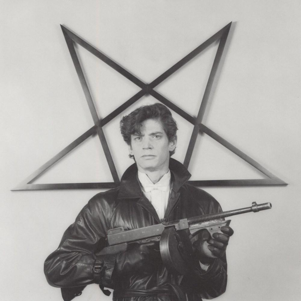 ROBERT MAPPLETHORPE - Self-portrait with Gun and Star - Original vintage photogravure