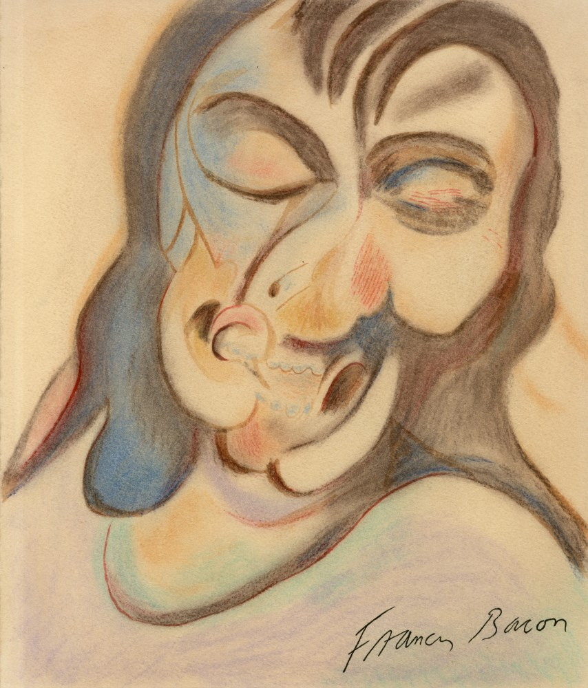 FRANCIS BACON [imputee] - Study for Portrait of Henrietta Moraes - Mixed Media (watercolor and pa...