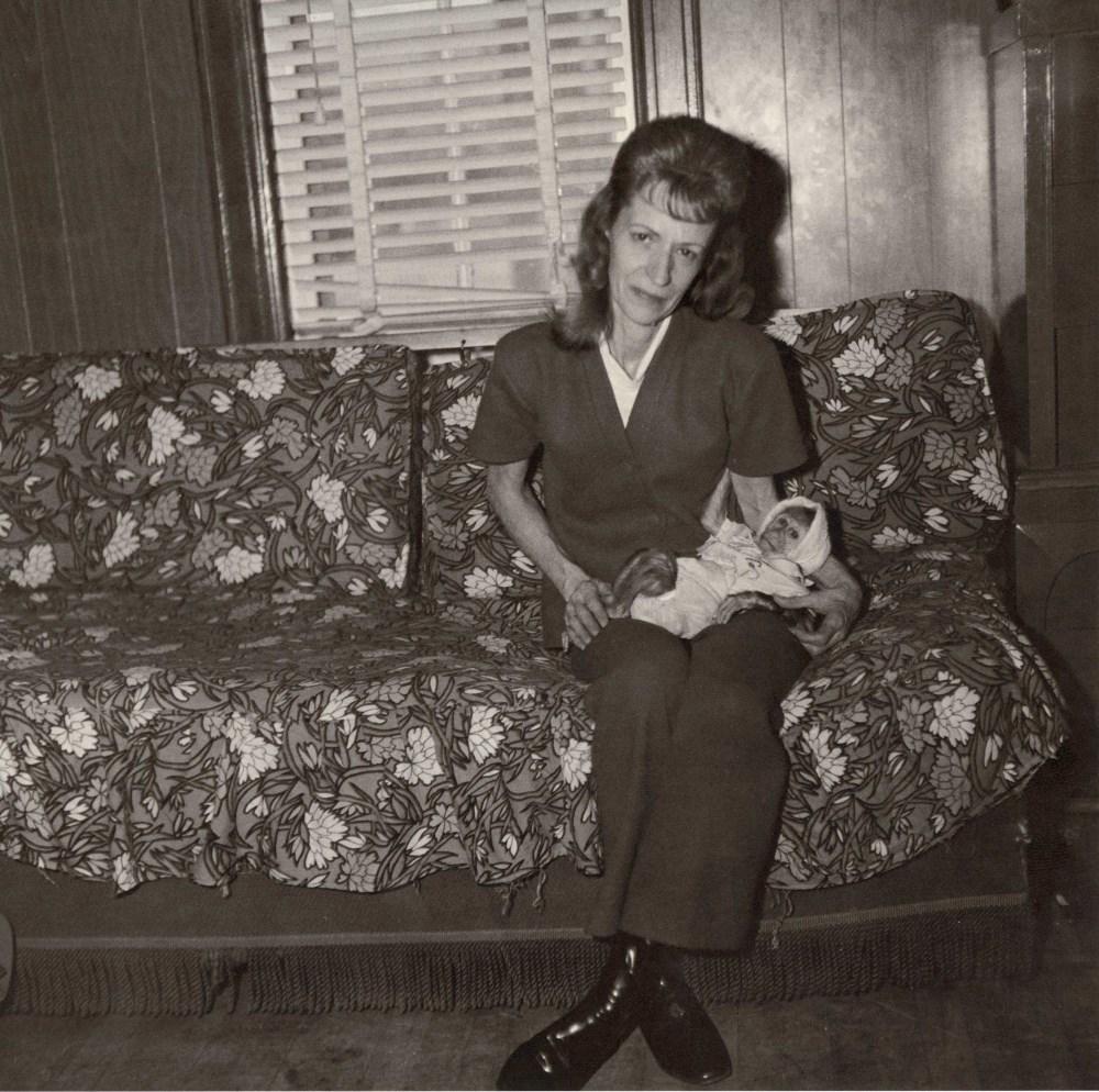 DIANE ARBUS - Mrs. Gladys 'Mitzi' Ulrich with Sam, a Baby Stump-tailed Macaque Monkey - Original ...