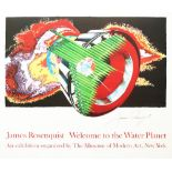 JAMES ROSENQUIST - Welcome to the Water Planet: Space Dust - Original color offset lithograph