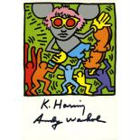 ANDY WARHOL & KEITH HARING - Andy Mouse IV, Homage to Warhol - Color offset lithograph