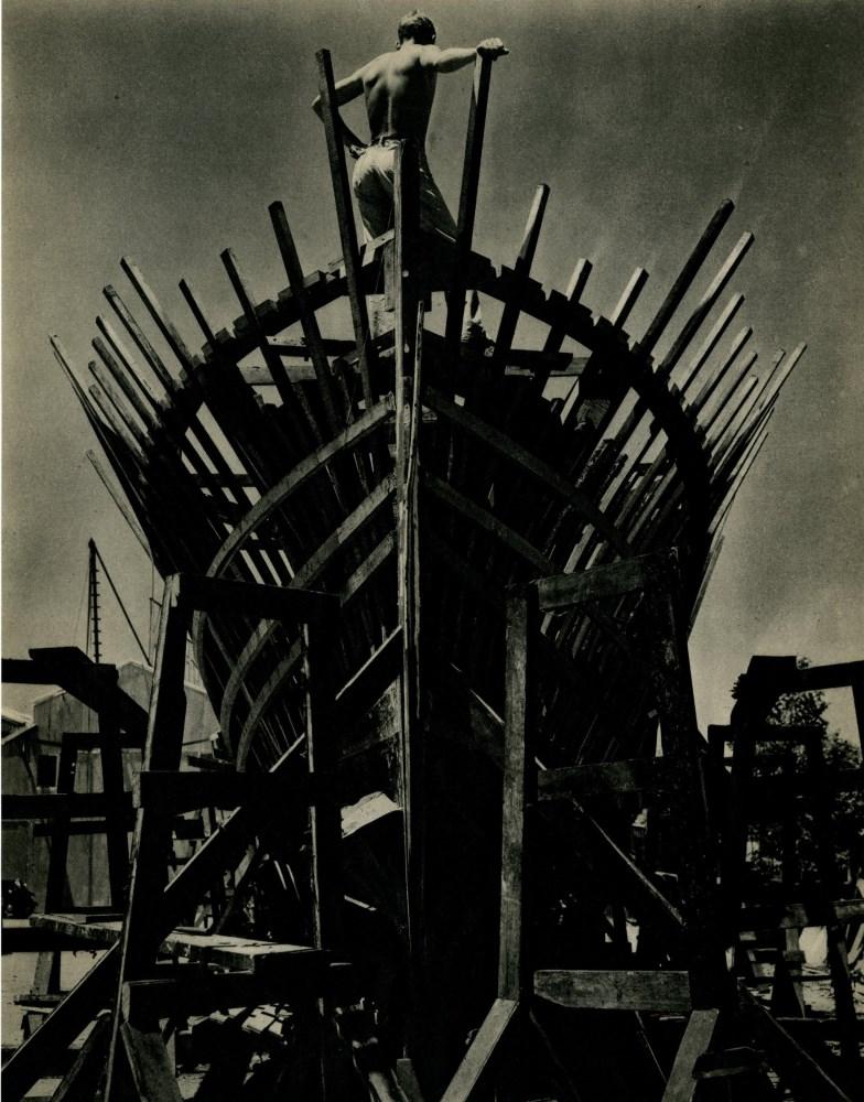 EDWARD WESTON - Ship View - Original vintage photogravure