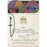 ANDY WARHOL - Baron Philippe Rothschild - Color offset lithograph with gold and blind embossing