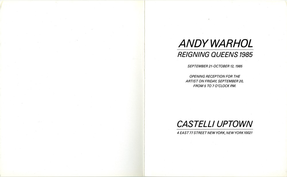 ANDY WARHOL - Reigning Queens - Color offset lithograph - Image 2 of 2