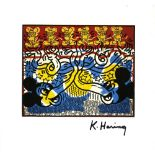 KEITH HARING - Two Mickeys & Six Andys - Color offset lithograph