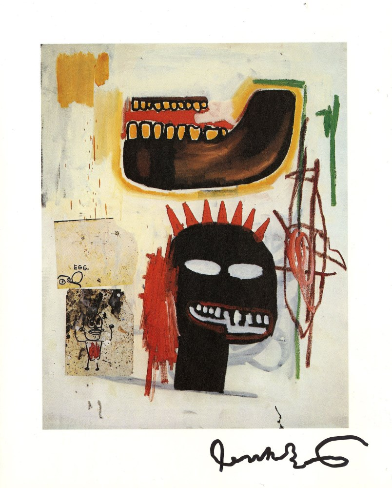 JEAN-MICHEL BASQUIAT - Brown Jaw - Color offset lithograph