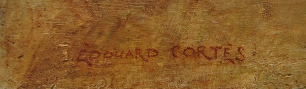 EDOUARD CORTES [d'apres] - Parisian View - Oil on canvas - Image 3 of 10