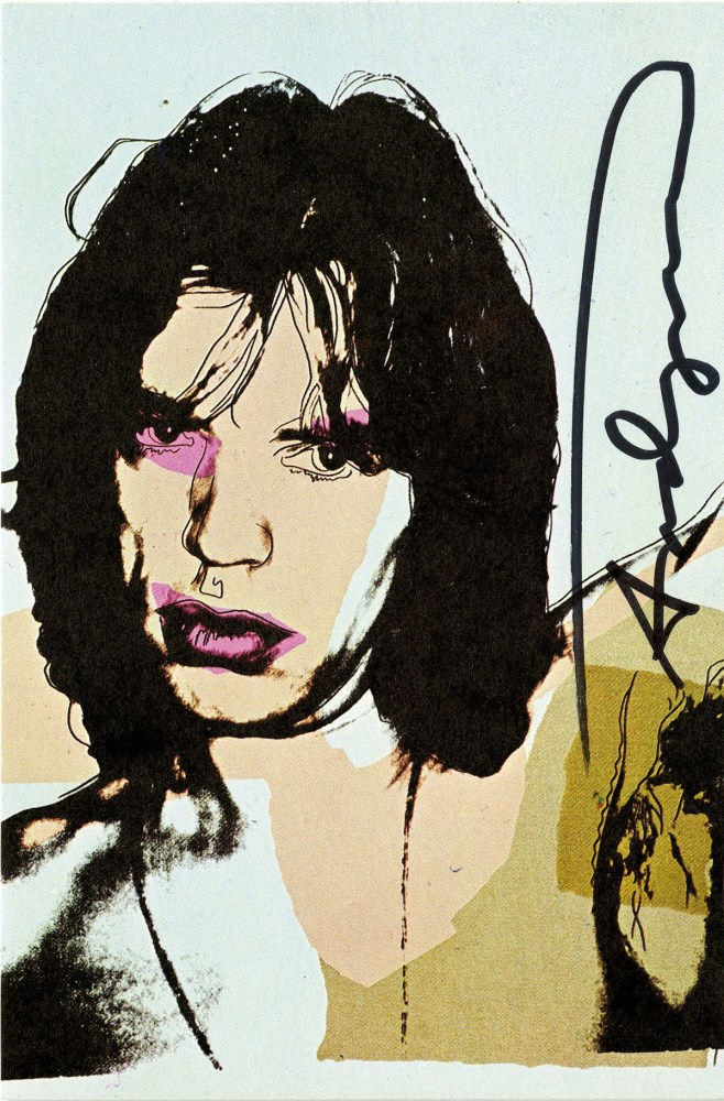 ANDY WARHOL - Mick Jagger #09 (first edition) - Color offset lithograph