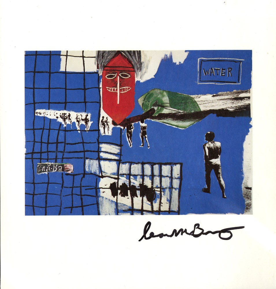 JEAN-MICHEL BASQUIAT & ANDY WARHOL & FRANCESCO CLEMENTE - In Bianco - Color offset lithograph