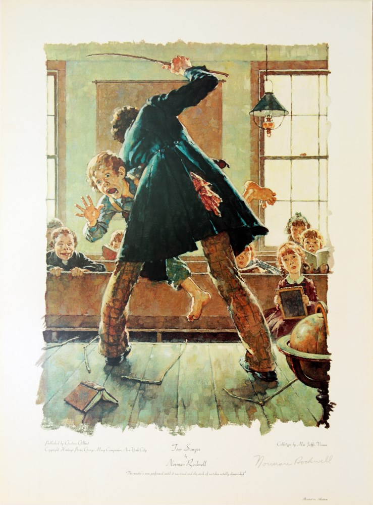 NORMAN ROCKWELL - Tom Sawyer: The Master's Arm… - Original color collotype