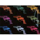 ANDY WARHOL - Guns #01 - Color offset lithograph