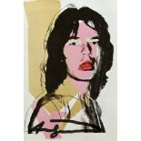 ANDY WARHOL - Mick Jagger #08 (first edition) - Color offset lithograph