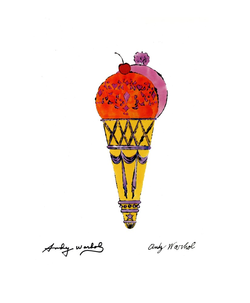 ANDY WARHOL [d'apres] - Ice Cream Cone - Double - Color lithograph