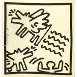 KEITH HARING - Barking Angel Dogs - Lithograph