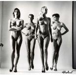 HELMUT NEWTON - Sie Kommen - Undressed - Original vintage photolithograph