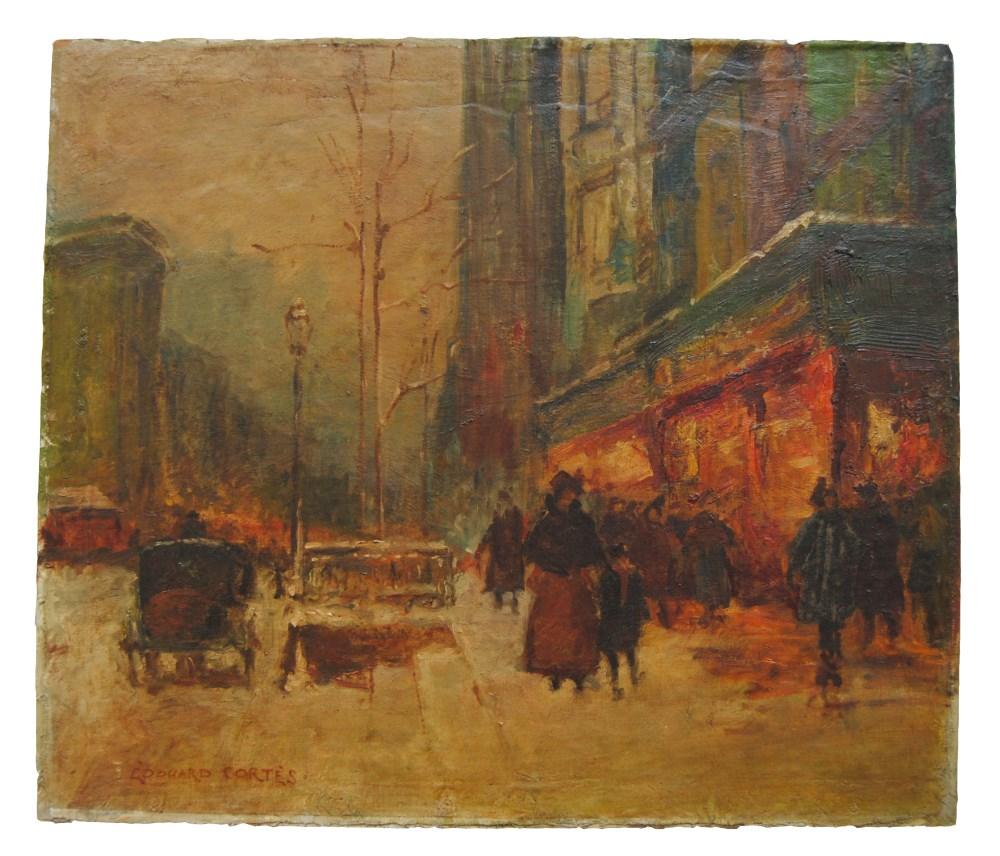 EDOUARD CORTES [d'apres] - Parisian View - Oil on canvas - Image 2 of 10