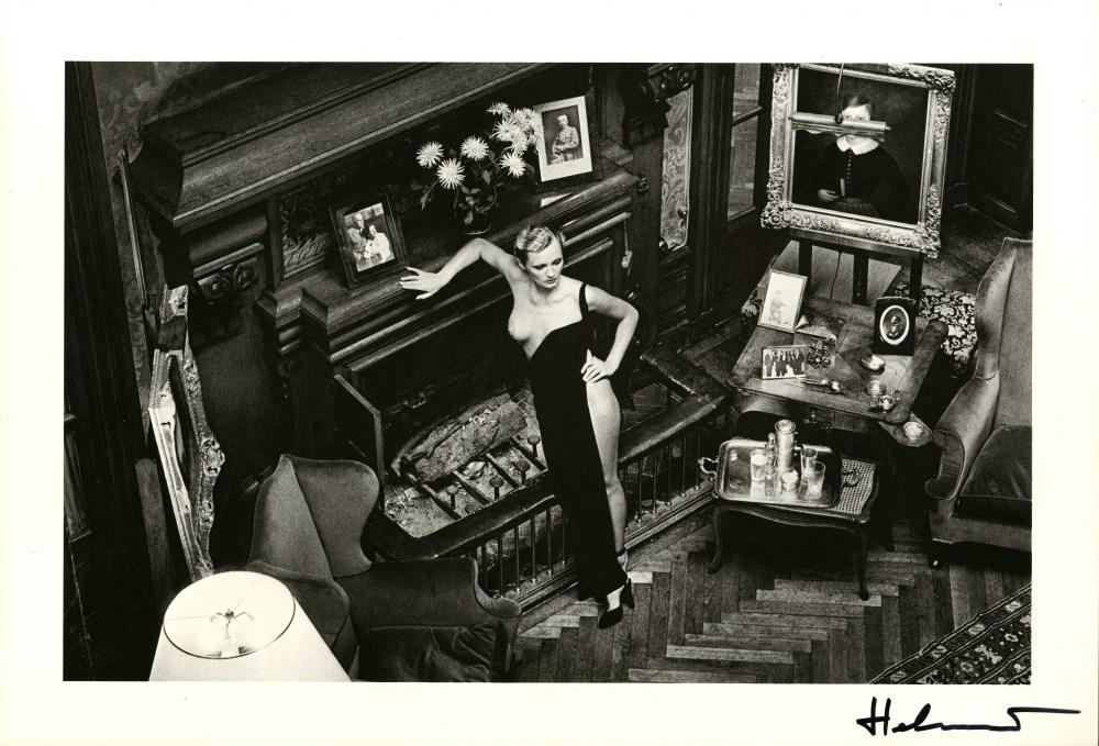 HELMUT NEWTON - Roselyne at Arcangues - Original vintage photolithograph