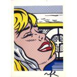 ROY LICHTENSTEIN - Shipboard Girl - Color offset lithograph