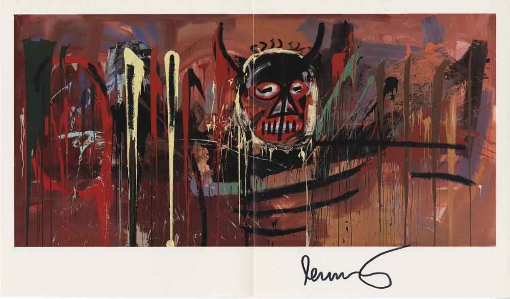 JEAN-MICHEL BASQUIAT - Devil - Color offset lithograph