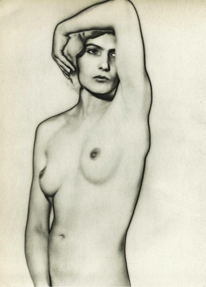 MAN RAY - Solarized Nude - Natacha (Natasha) - Original vintage photogravure