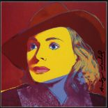 ANDY WARHOL - Ingrid Bergman: With Hat (04) - Color offset lithograph