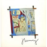 JEAN-MICHEL BASQUIAT - Three Quarters of Olympia Minus the Servant - Color offset lithograph