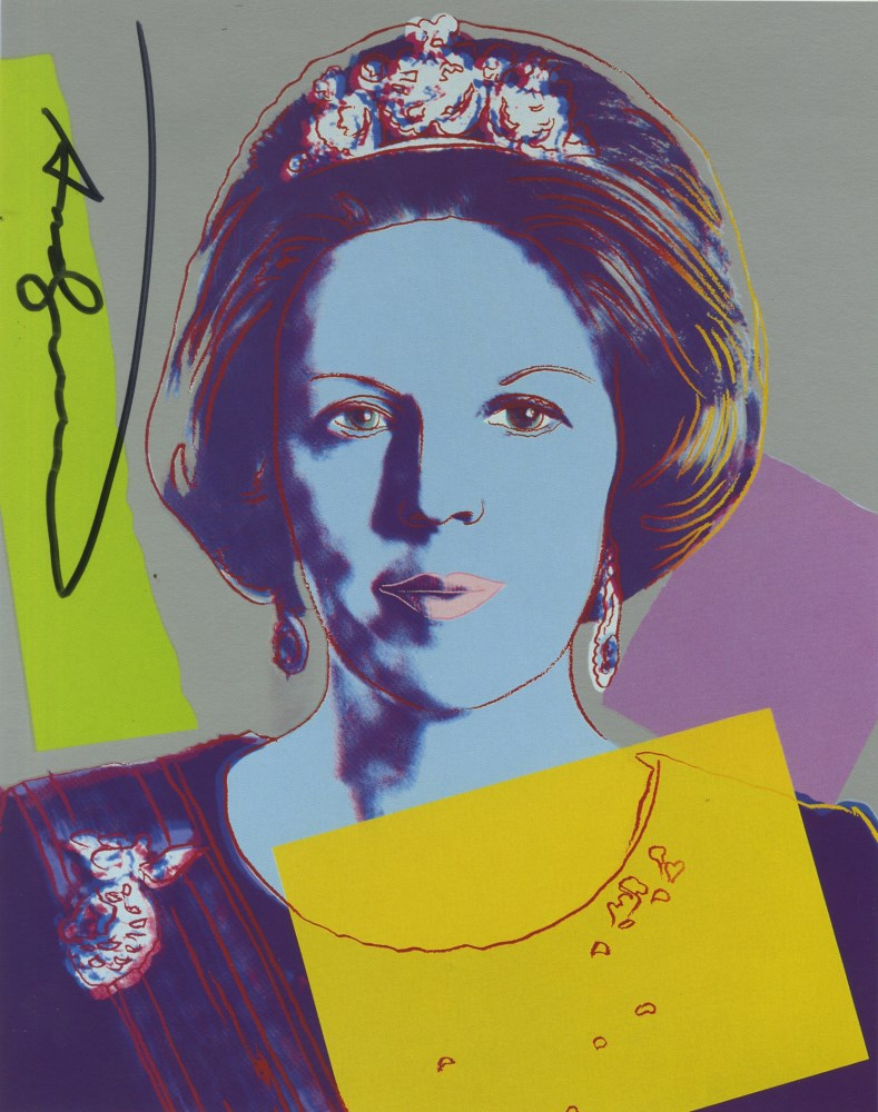 ANDY WARHOL - Queen Beatrix (#3) - Color offset lithograph