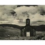 """EDWARD WESTON - Church at """"E"""" Town, New Mexico - Original vintage photogravure"""