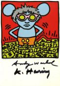ANDY WARHOL & KEITH HARING - Andy Mouse III, Homage to Warhol - Color offset lithograph