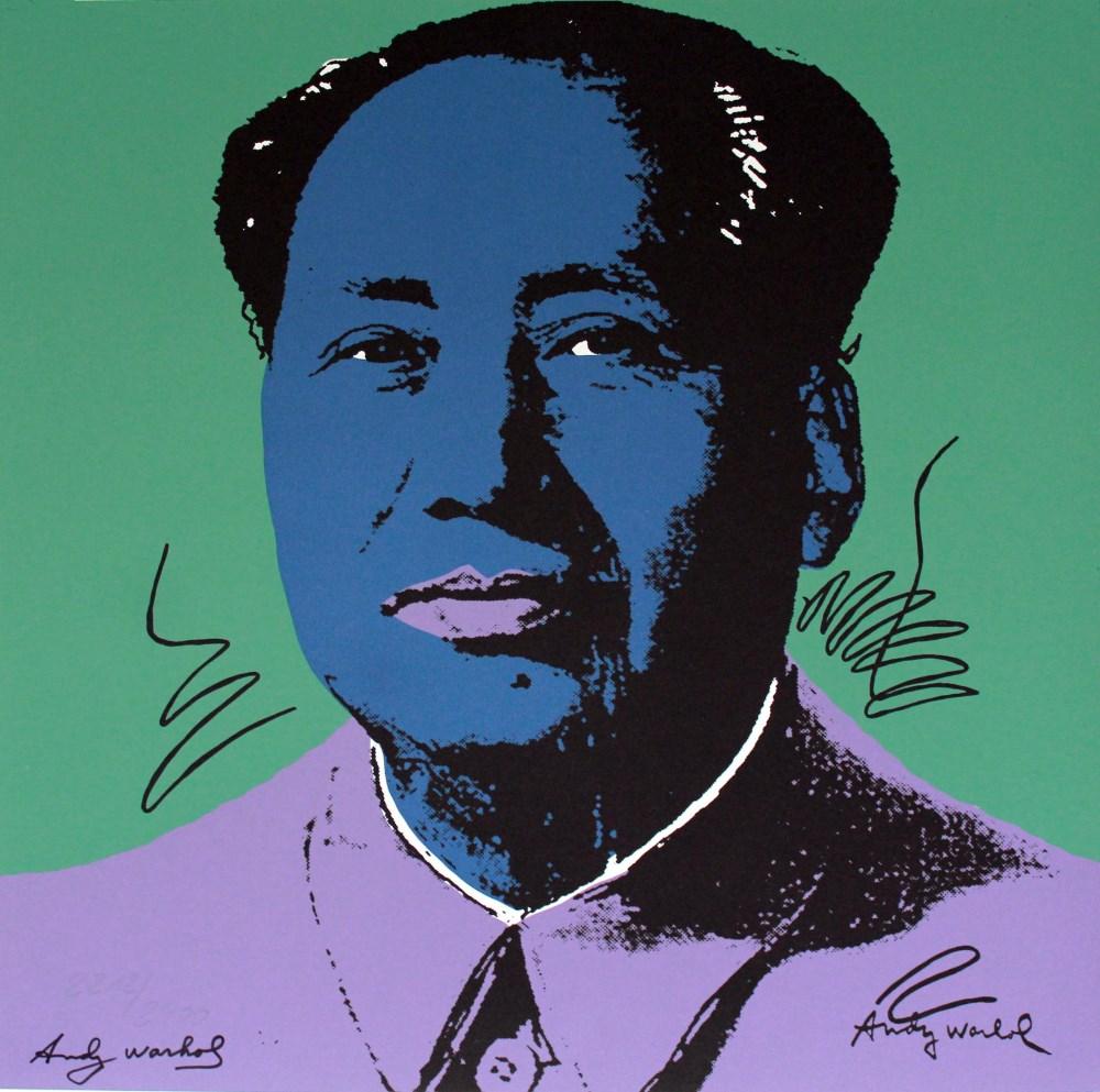 ANDY WARHOL [d'apres] - Mao #01 - Color lithograph