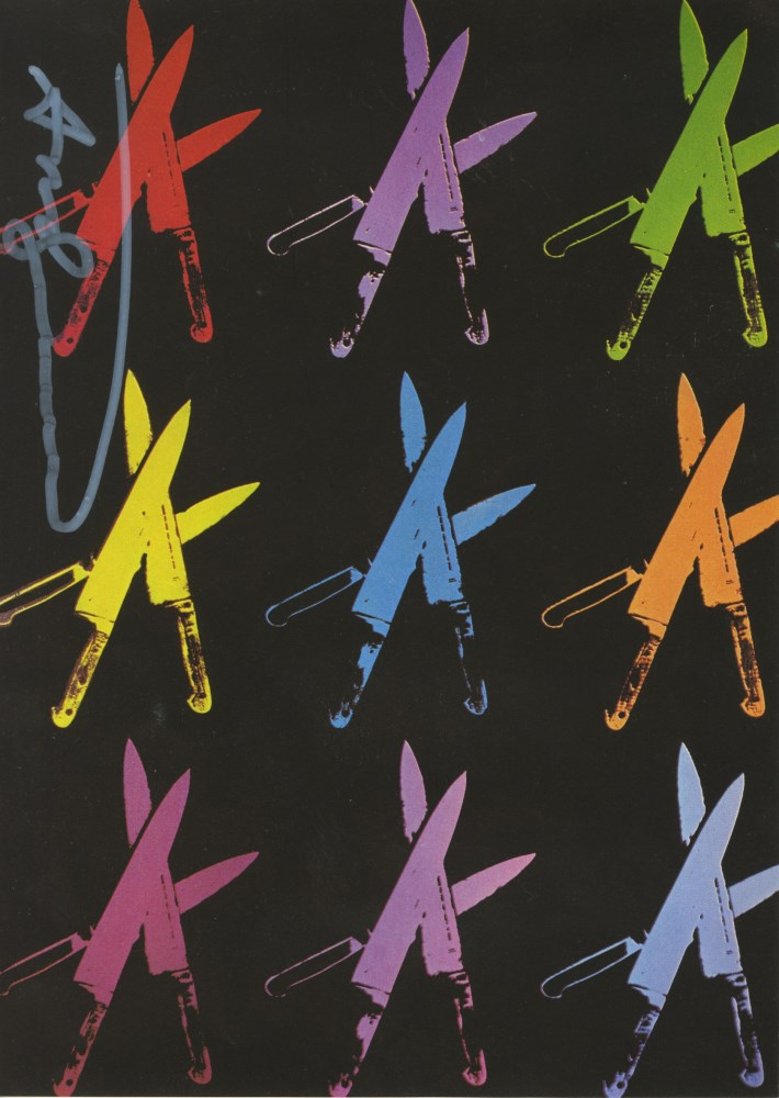 ANDY WARHOL - Knives #06 - Color offset lithograph